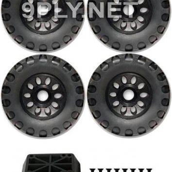 New HUGE 113mm Offroad Dirt / Tires / Wheels Kit for Skateboards / Longboard Cruisers