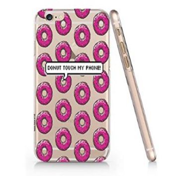 Don't Touch My Phone Donut Slim Iphone 6 Case, Clear Iphone 6 Hard Cover Case (For Apple Iphone 6 4.7 Inch Screen)-Emerishop