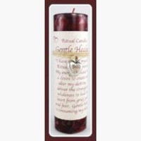 """Gentle Healing"" Pillar Candle with Ritual Necklace"