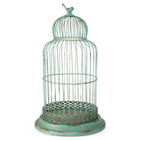 One Kings Lane - An Autumnal Setting - Iron Birdcage, Green