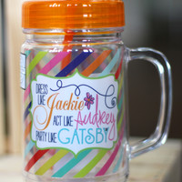 Party Like Gatsby Mason Jar Tumbler {22 oz}