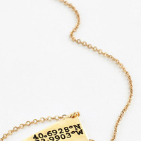 ModCloth Minimal No Ordinary Coordinates Necklace in Brooklyn