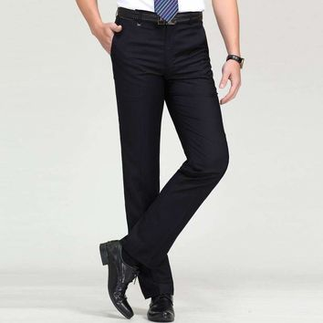 The Mens In Business Suits Occupation Straight Dp Leisure Trousers