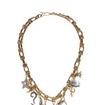 Crystal Charm Statement Necklace - Marc Jacobs