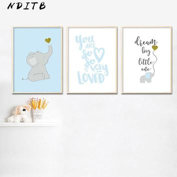 NDITB Minimalist Cartoon Canvas Posters Nurser Wall Art Print Painting Nordic Kids Decoration Pictures Baby Children Room Decor