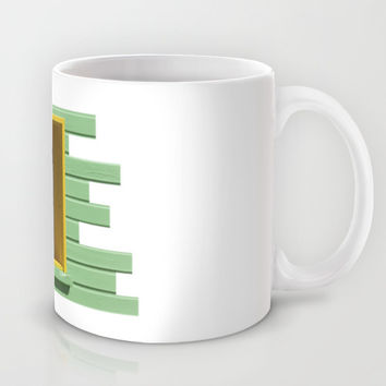 Yellow Window, Green Wall Mug by Cinema4design