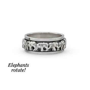 Elephant Spinner Ring - Women's Clothing & Symbolic Jewelry – Sexy, Fantasy, Romantic Fashions