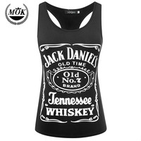 Jack Daniels Whiskey Black PREMIUM Tri-Blend Racerback Racer Back Tank Top Cute Summer Tank for Women Ladies Lady Girls