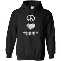 Peace Love Jeep T-shirt