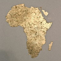 Gold Leaf painting of Africa by 10kiaatstreet on Etsy