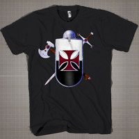 knight templar logo  Mens and Women T-Shirt Available Color Black And White