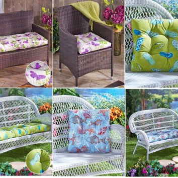 Cushions Outdoor Chair Loveseat Bench Water Resist Flip Flop Butterfly Sealife