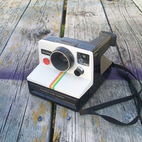 Vintage Polaroid Land Camera One Step Rainbow SX-70 1970s