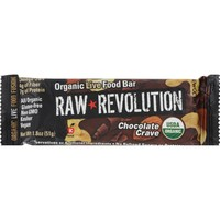 Raw Rev Organic Vegan - Gluten-Free Fruit - Nut - Seed Bars - Chocolate Crave 1.8 ounce - Pack of 12
