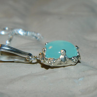 Beautiful Blue Chalcedony Necklace