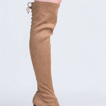 Laced Into Action Over-The-Knee Boots GoJane.com