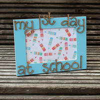 My 1st Day at School Personalised Photograph Frame with date or name added