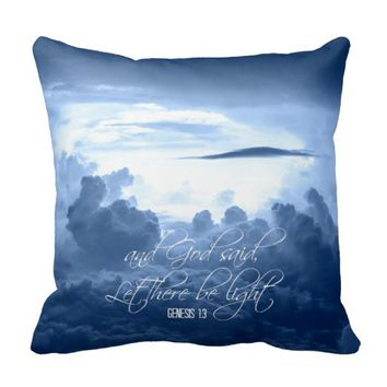 Let there Be Light Bible Verse Throw Pillows