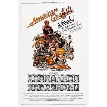 American Graffiti Movie Poster Standup 4inx6in