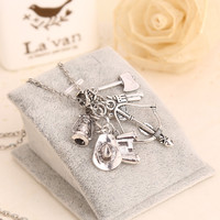 The Walking Dead Charm Necklace, Comes with 6 Charms!