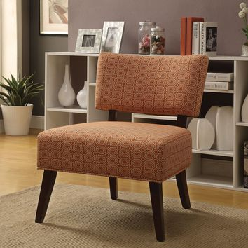 Able Accent Armless Chair, Orange