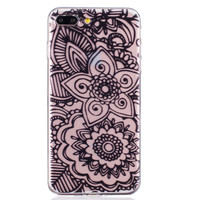 Black Lace Flower iPhone 6 6s Plus & iPhone 7 7Plus & iPhone se 5s + Gift Box-82