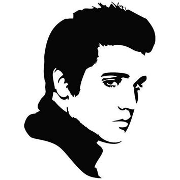 Elvis Presley Look - Movie Decal Vinyl Removable Decorative Sticker for Wall, Car, Ipad, Macbook, Laptop, Music