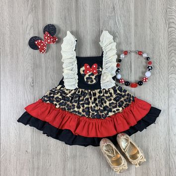 RTS Black and Red Mouse Leopard Dress