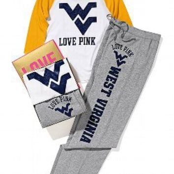 West Virginia University Baseball Tee Boyfriend Pant Gift Set - Victorias Secret PINK - Victoria's Secret