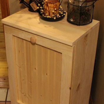 Primitive Rustic Tilt Out Trash Bin (Unfinished)