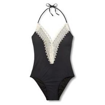 Women's Lace Halter One Piece Swimsuit - Sea Angel : Target