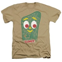 Gumby - Inside Gumby Adult Heather Officially Licensed T-Shirt Short Sleeve Shirt