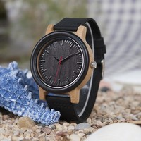 BOBO BIRD High Quantity Mens Wooden Quartz Watch with Leather Strap as Gift Customized Logo relojes