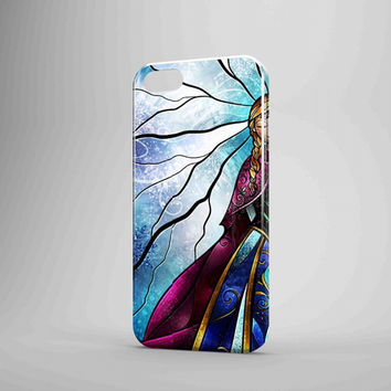 Elsa And Anna Disney Frozen Stained Glass Couple Left iPhone Case Galaxy Case 3D Case
