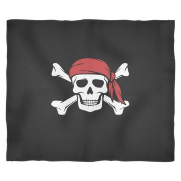 Pirate Blanket by Living You Co | Pirate Fleece Blanket, Skull and Crossbones Blanket, Pirate Bedcover | Stay Warm in Style | Small, Medium, Large