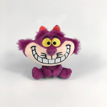 Alice In Wonderland Keychain Cheshire Cat Plush Soft Stuffed Small Charm Doll 10cm