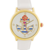 ANCHOR W.WHITE LTHR STRAP - Betsey Johnson