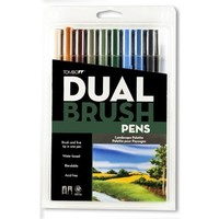 Dual Brush Pen Set, 10 Landscape