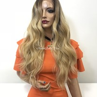Ombre blond lace front wig - Live for Love 218 21*