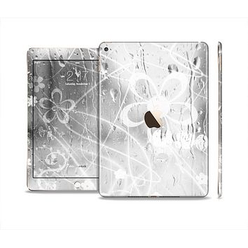 The Watered Floral Glass Skin Set for the Apple iPad Air 2