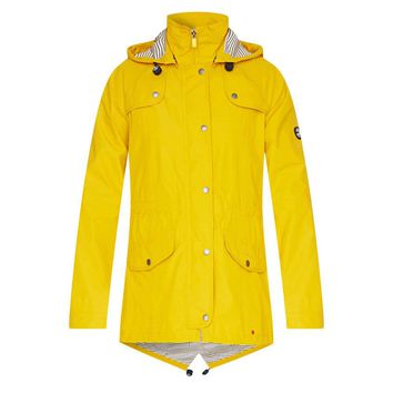 trevose waterproof jacket in yellow by barbour