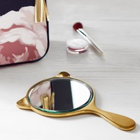 Emily & Meritt Gold Cat Mirror