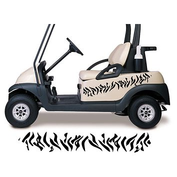 Golf Cart Go Kart Decals Side By Side Stickers Graphics Tribal Flames Stripes GG08