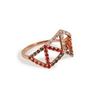Lito - Diamond, Pink Gold, and Sapphire Pinkie Ring