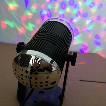 Party Disco Ball Projector Light 3w Led Strobe Lamp with Remote Control 7 Color Sound Activated Stage Lighting Effect Show Wedding light bulb - Color Change Night Light - Children's Toy Lights