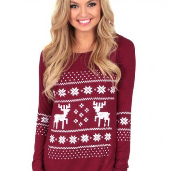 Reindeer Games Tunic | Monday Dress Boutique