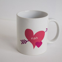 nah coffee mug with hearts