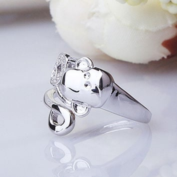 Gift Stylish New Arrival Jewelry Shiny 925 Silver Ring [7652921671]
