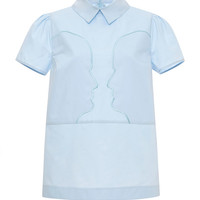 Apollonia Embroidered Cotton-Poplin Shirt by Vivetta - Moda Operandi