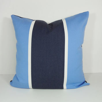 Blue Decorative Pillow Cover, Sky Blue Cushion Cover, Denim, Navy Blue, 20 x 20